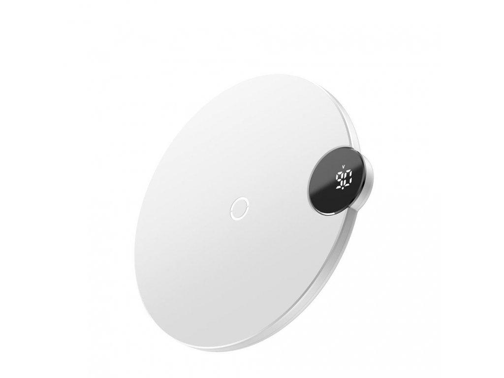 Bezdrátová rychlá nabíječka pro iPhone - BASEUS, Digtal LED Display White