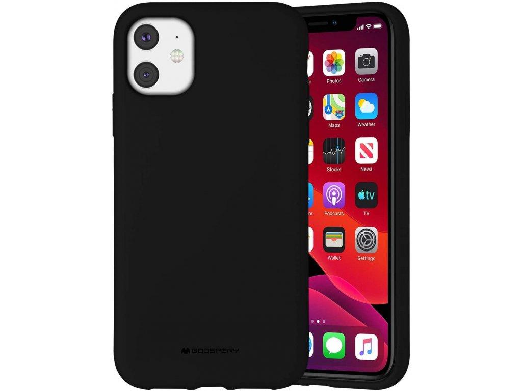 Ochranný kryt pro iPhone 11 - Mercury, Silicone Black