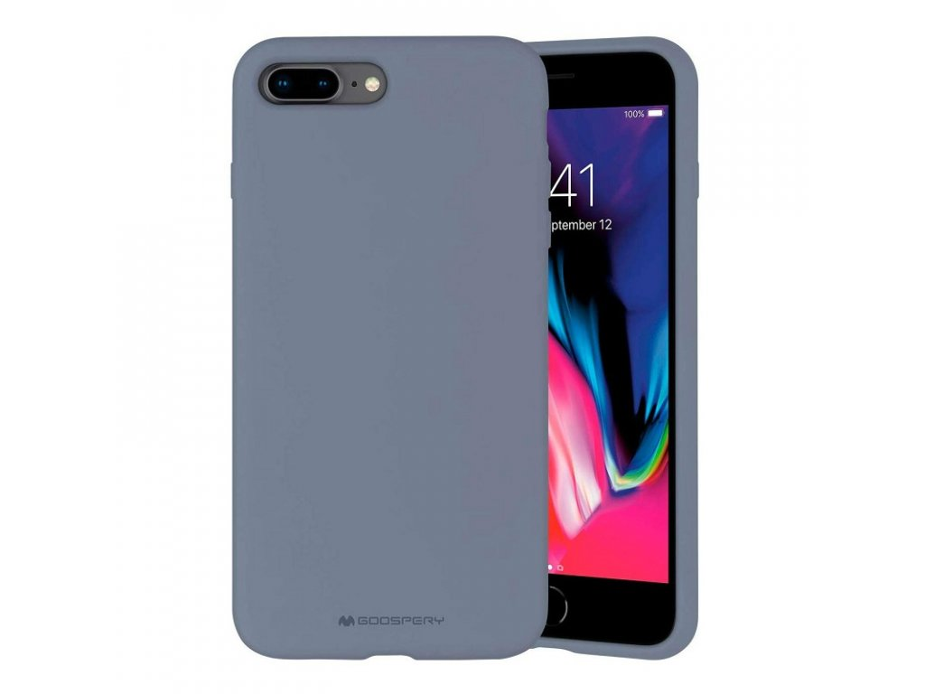 Ochranný kryt pro iPhone 7 PLUS / 8 PLUS - Mercury, Silicone Lavender Gray