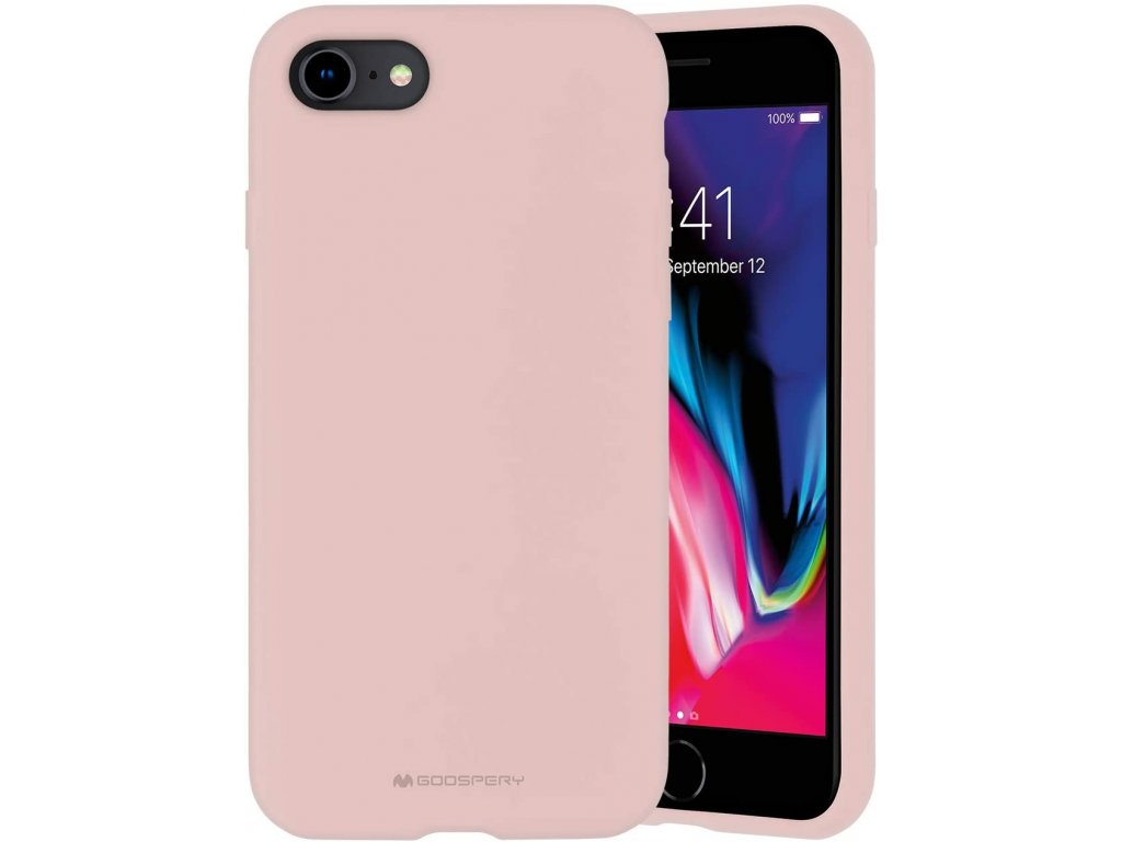 Ochranný kryt pro iPhone 7 / 8 / SE (2020) - Mercury, Silicone Pink Sand