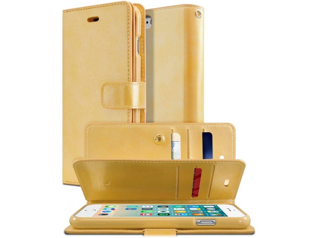 Pouzdro / kryt pro iPhone 7 / 8 / SE (2020) - Mercury, Mansoor Diary Gold