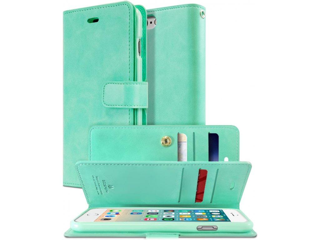 Pouzdro / kryt pro iPhone 7 / 8 / SE (2020) - Mercury, Mansoor Diary Mint