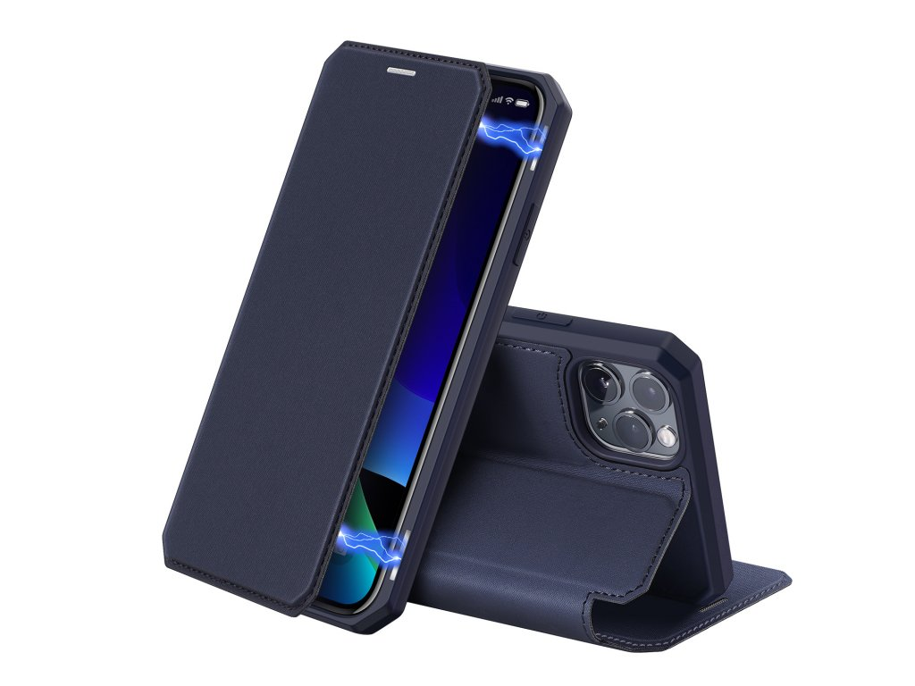 Knížkové pouzdro na iPhone 11 Pro - DuxDucis, SkinX Blue