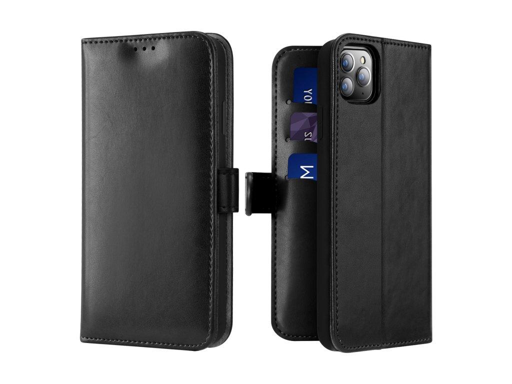 Knížkové pouzdro na iPhone 11 Pro - DuxDucis, Kado Black