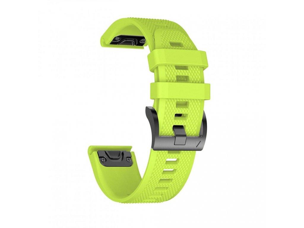 Řemínek pro Garmin Fenix 5 / 6 / 6 PRO - Tech-Protect, Smooth Lime