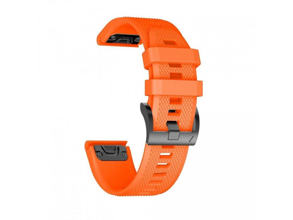 Řemínek pro Garmin Fenix 5 / 6 / 6 PRO - Tech-Protect, Smooth Orange