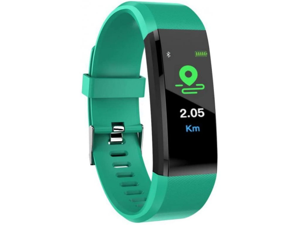 Bluetooth fitness náramek - 115plus Green