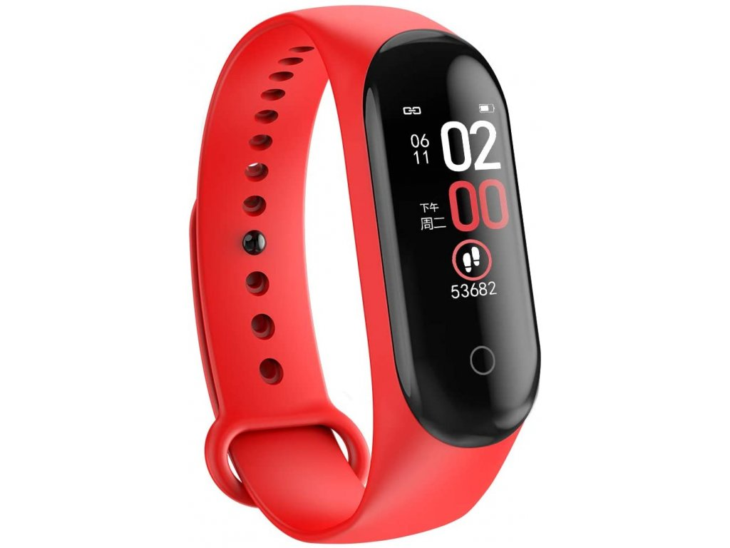 Bluetooth fitness náramek - M4 Red