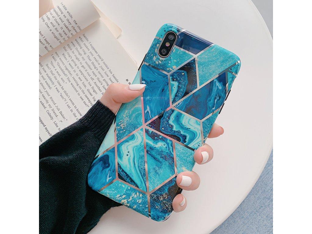 Ochranný kryt pro iPhone XS / X - Geometric Blue