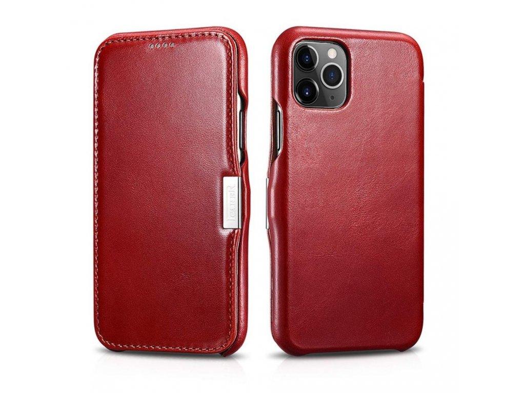 Knížkové pouzdro pro iPhone 11 Pro - iCarer, Vintage Red