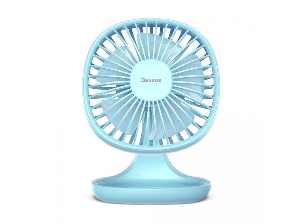 Stolní větráček - Baseus, Pudding Shaped Fan Blue