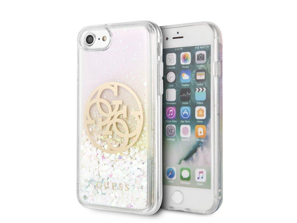 Ochranný kryt pro iPhone 7 / 8 / SE (2020) - Guess, Glitter Circle
