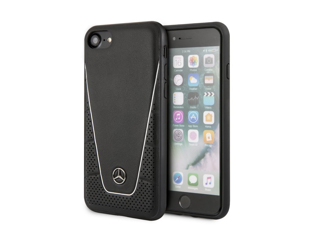 Ochranný kryt pro iPhone 7 / 8 / SE (2020) - Mercedes-Benz, Quilted Back Black