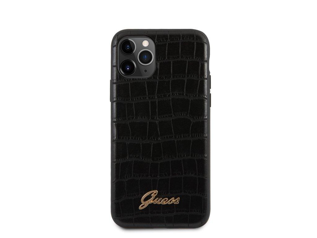 Ochranný kryt na iPhone 11 Pro - Guess, Croco Back Black