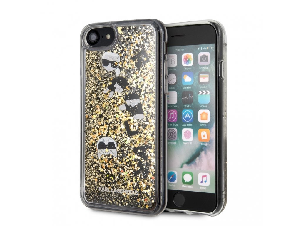Ochranný kryt pro iPhone 7 / 8 / SE (2020) - Karl Lagerfeld, Floatting Charms Gold