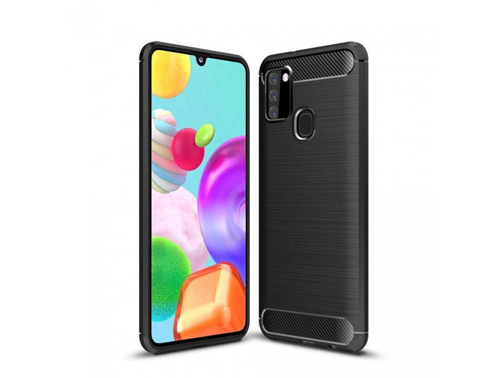 Ochranný kryt pro Samsung Galaxy A21S - Tech-Protect, Tpucarbon Black
