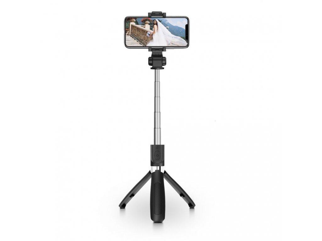 Selfie tyč s Bluetooth ovladačem a stojánkem - Tech-Protect, L01S Selfie Stick Tripod