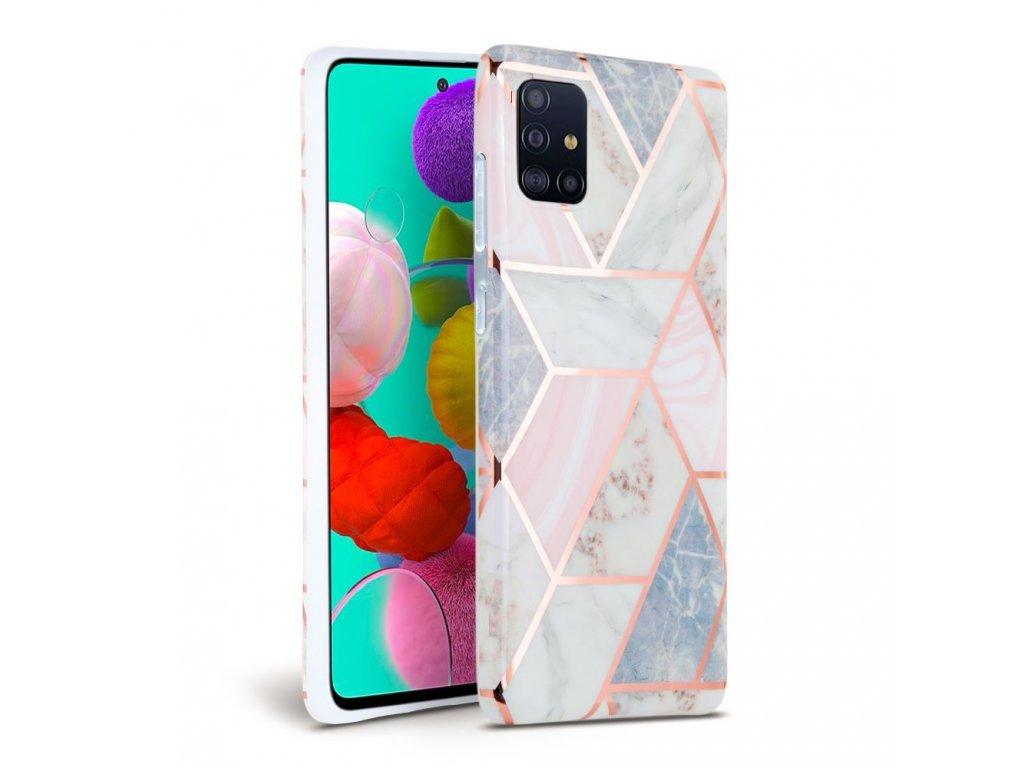 Ochranný kryt pro Samsung Galaxy A41 - Tech-Protect, Marble Pink