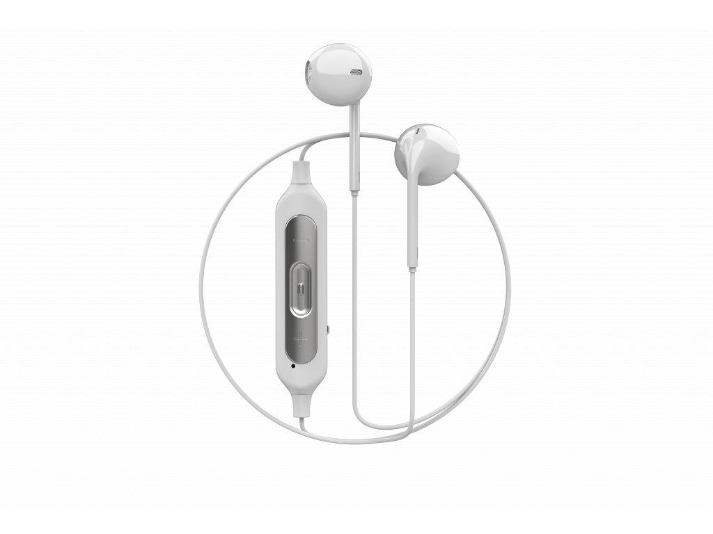 Bezdrátová sluchátka pro iPhone - Devia, Smart Dual V2 White