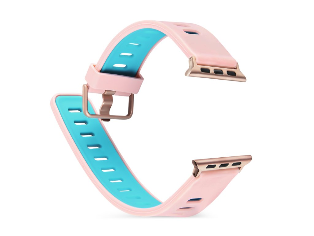Řemínek pro Apple Watch 42mm / 44mm - Devia, TwoTone Pink/Mint