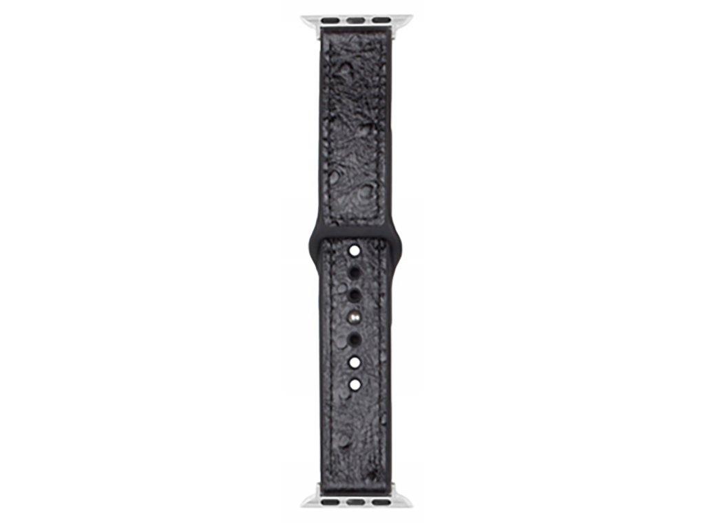 Řemínek pro Apple Watch 42mm / 44mm - Devia, Ostrich Black
