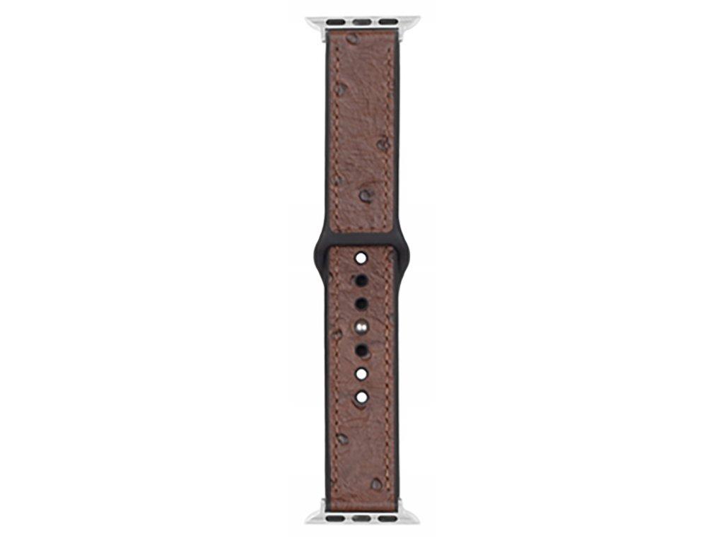 Řemínek pro Apple Watch 42mm / 44mm - Devia, Ostrich Brown