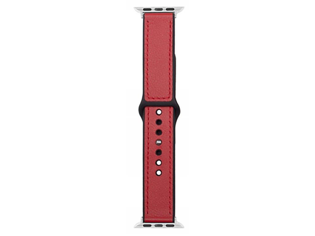 Řemínek pro Apple Watch 42mm / 44mm - Devia, Ostrich Red