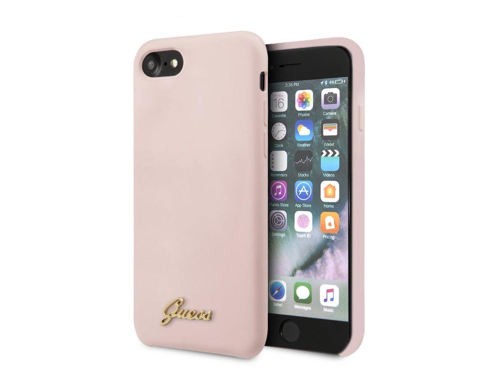 Ochranný kryt pro iPhone 7 / 8 / SE (2020) - Guess, Silicone Retro Pink