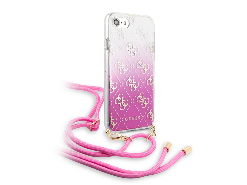 Ochranný kryt pro iPhone 7 / 8 / SE (2020) - Guess, 4G Electroplated Pink