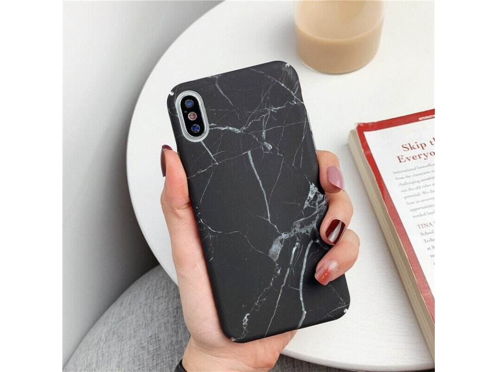 Ochranný kryt pro iPhone XS / X - Marble Black