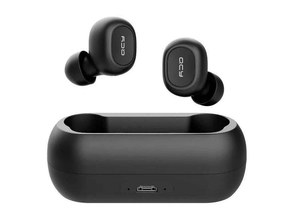 Bezdrátová sluchátka - QCY, T1C Black