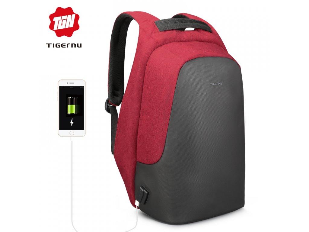 Městský batoh 15.6'' - Tigernu, T-B3615B Red