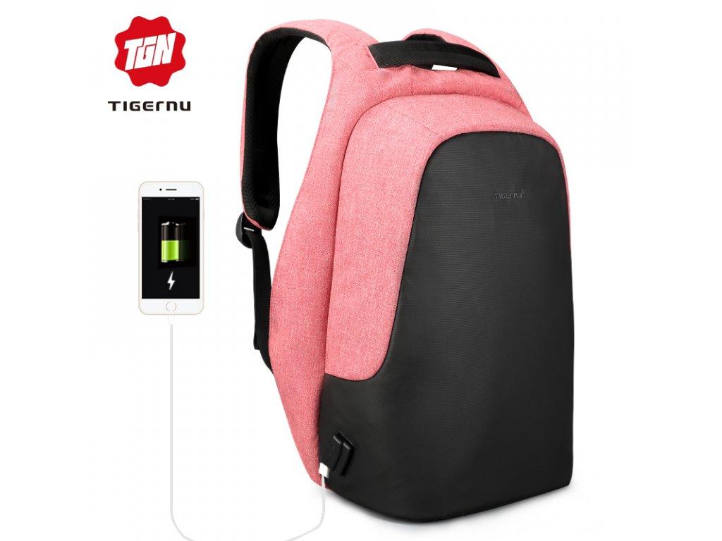 Městský batoh 15.6'' - Tigernu, T-B3615B Pink
