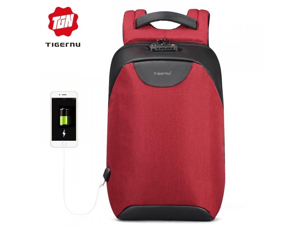 Městský batoh 15.6'' - Tigernu, T-B3611 Red