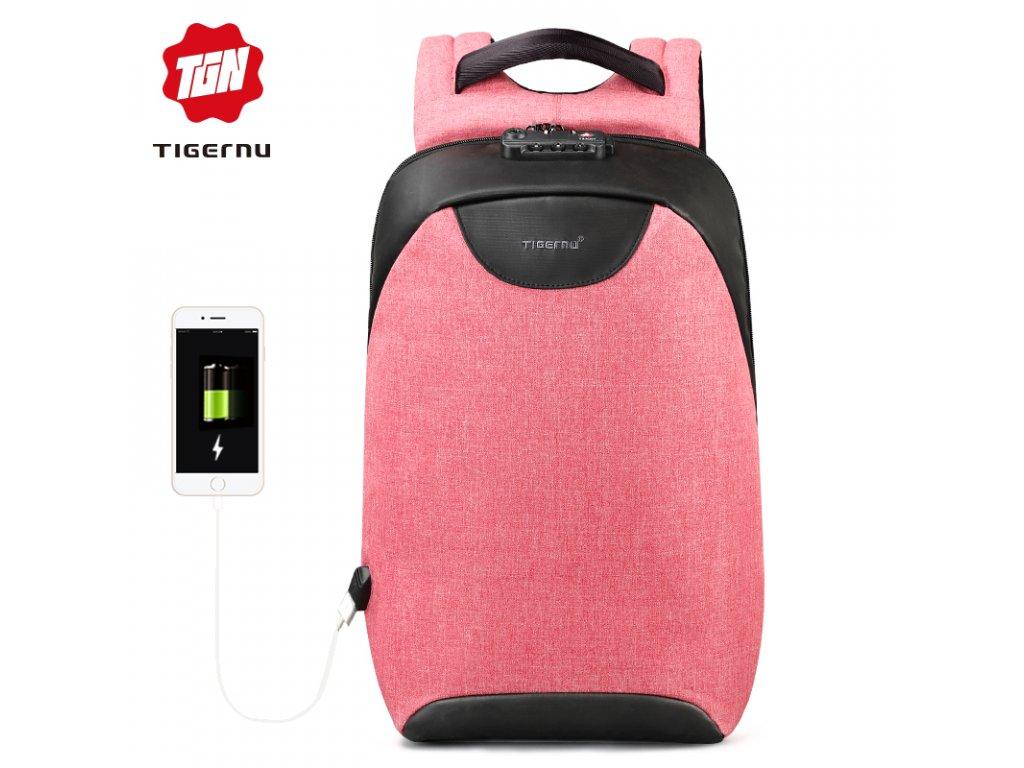 Městský batoh 15.6'' - Tigernu, T-B3611 Pink