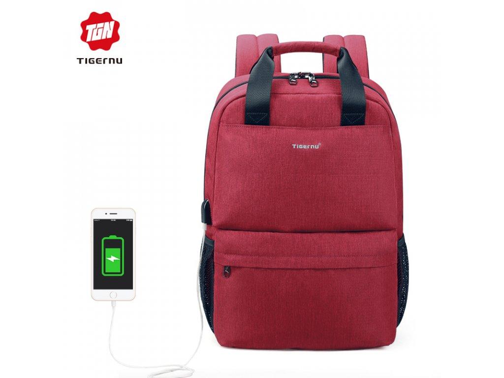 Městský batoh 15.6'' - Tigernu, T-B3508 Red