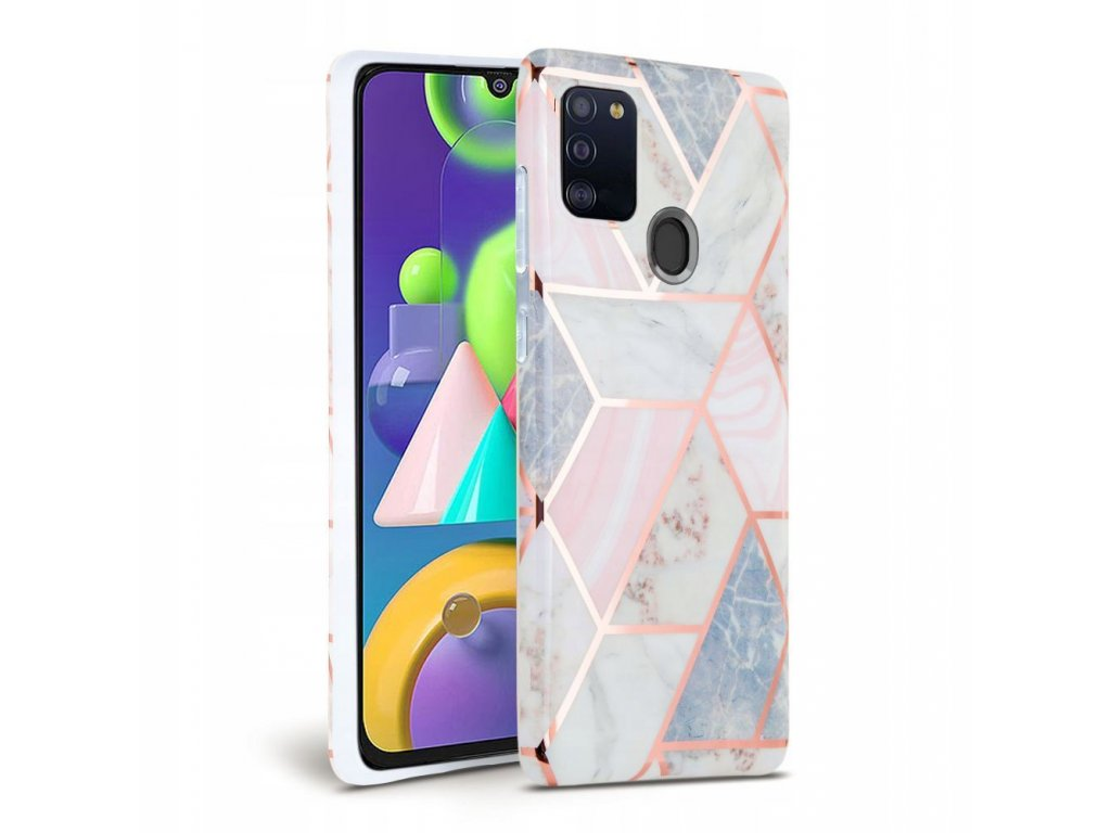 Ochranný kryt pro Samsung Galaxy A21S - Tech-Protect, Marble Pink