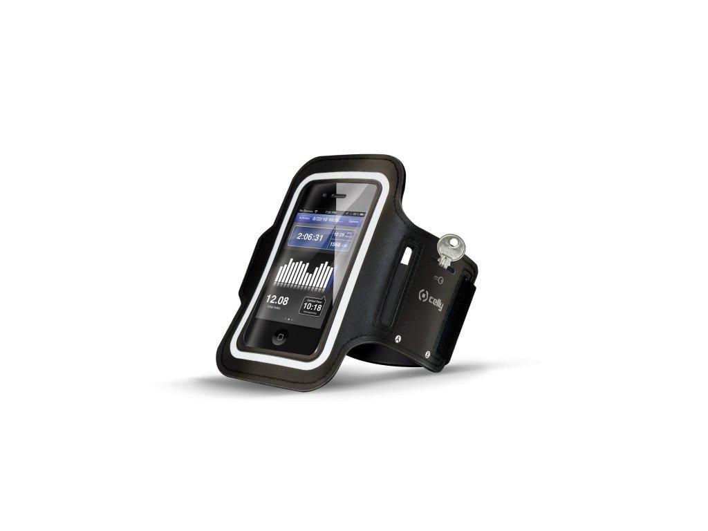 Sportovní pouzdro na ruku pro iPhone 5 / 5S / 5C / SE / 6 / 6S / 7 / 8 / SE (2020) - CELLY, Black