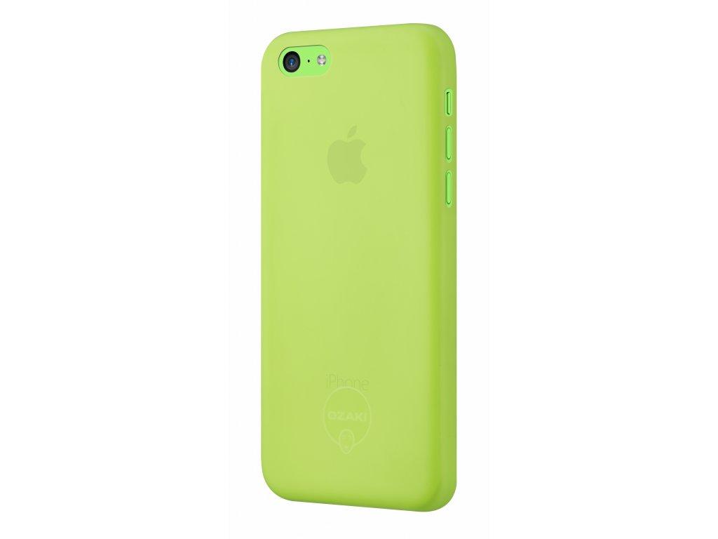 Pouzdro / kryt pro Apple iPhone 5C - Ozaki, O!Coat 0.3 Jelly Green