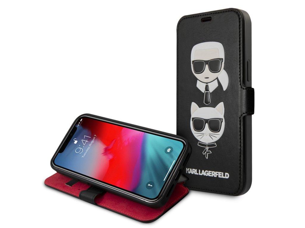 Ochranné pouzdro pro iPhone 12 Pro MAX - Karl Lagerfeld, Heads Book Black