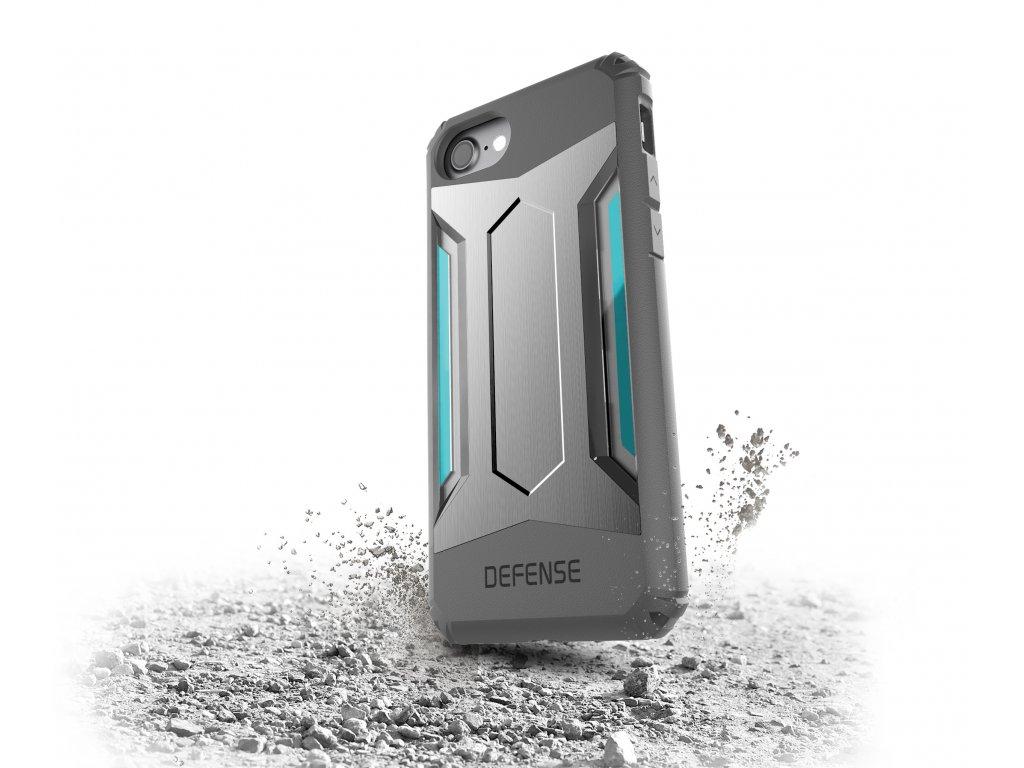 Pouzdro / kryt pro Apple iPhone 7 / 8 - X-DORIA, DEFENSE GEAR SILVER