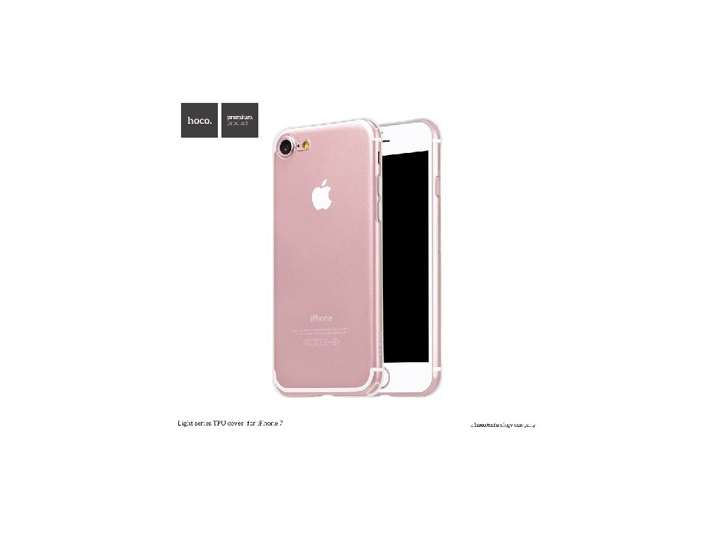 Pouzdro / kryt pro Apple iPhone 7 / 8 - Hoco, Light Transparent