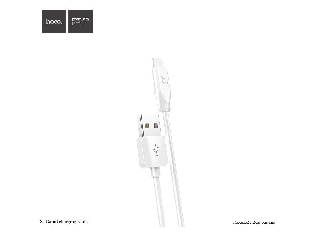 Kabel USB-C TYPE-C - Hoco, X1 White 100cm