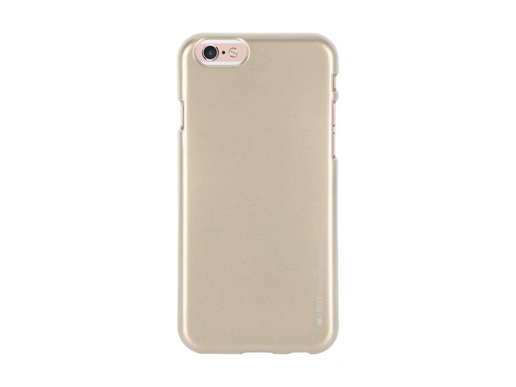 Pouzdro / kryt pro Apple iPhone 6 / 6S - Mercury, i-Jelly Gold