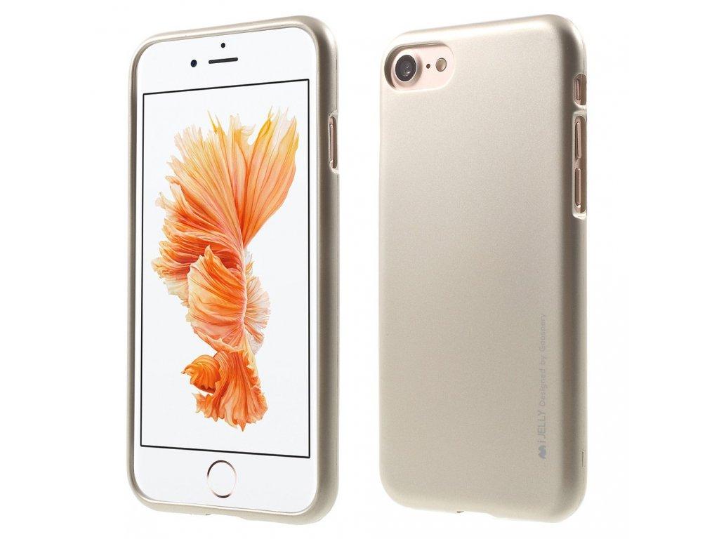 Pouzdro / kryt pro Apple iPhone 7 / 8 - Mercury, i-Jelly Gold
