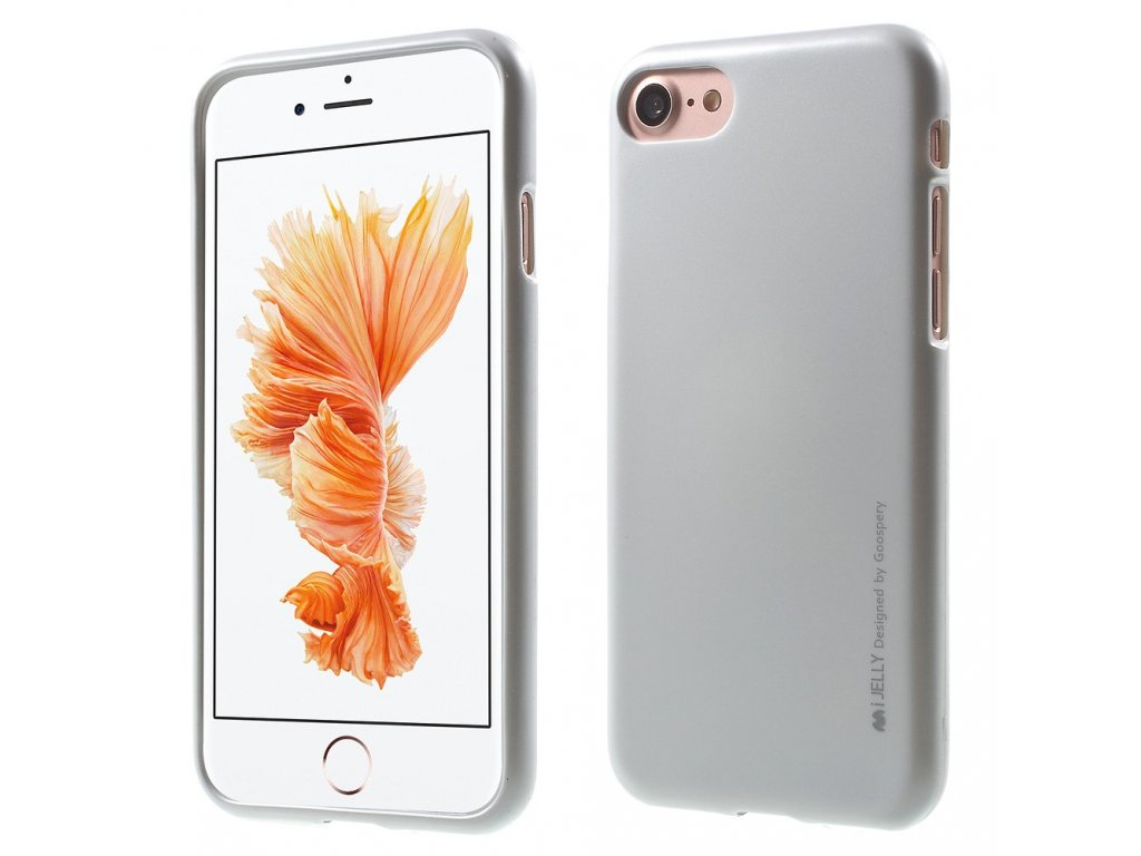 Pouzdro / kryt pro Apple iPhone 7 / 8 - Mercury, i-Jelly Silver