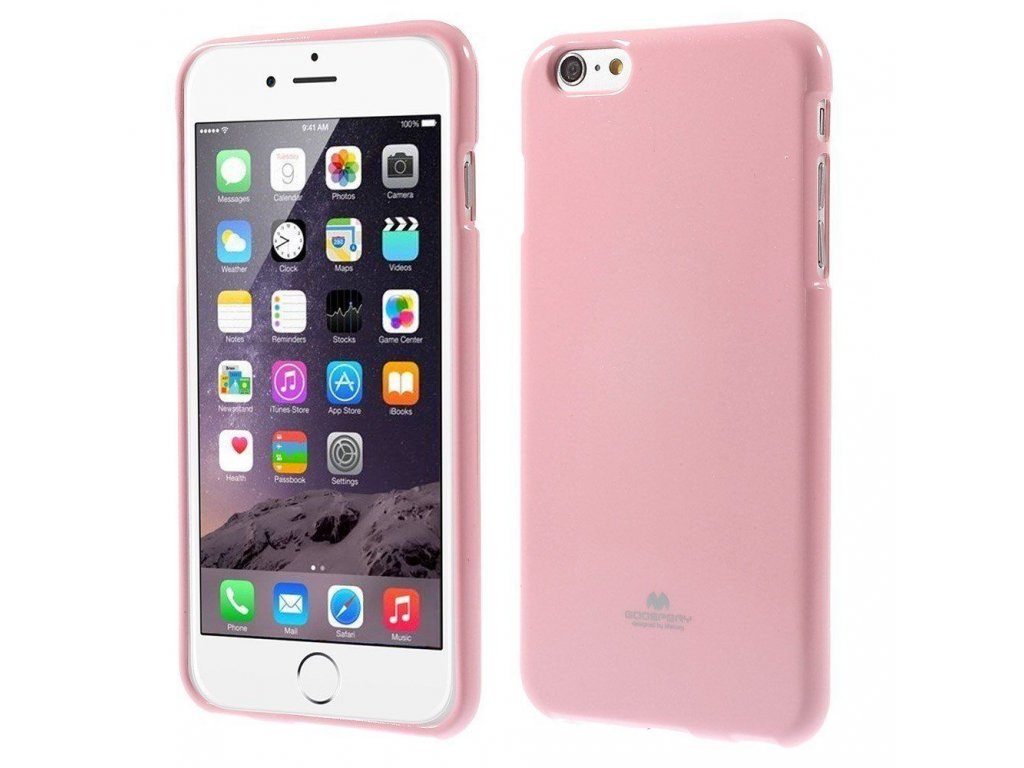 Pouzdro / kryt pro Apple iPhone 6 / 6S - Mercury, Jelly Case Pink