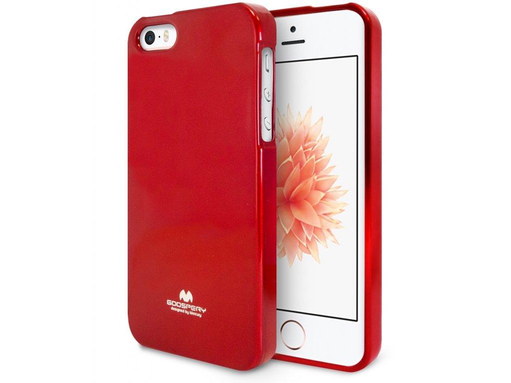 Pouzdro / kryt pro Apple iPhone 5 / 5S / SE - Mercury, Jelly Case Red