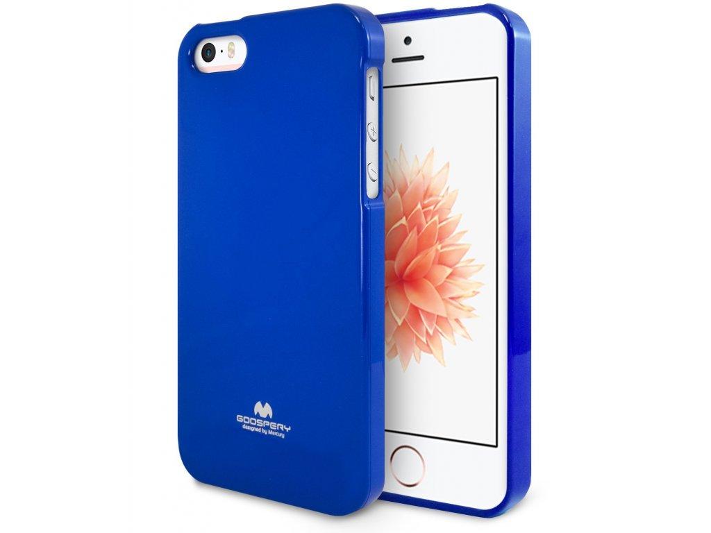 Pouzdro / kryt pro Apple iPhone 5 / 5S / SE - Mercury, Jelly Case Blue