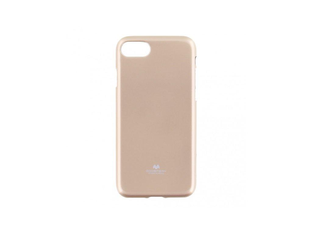 Pouzdro / kryt pro Apple iPhone 7 / 8 / SE (2020) - Mercury, Jelly Case Gold